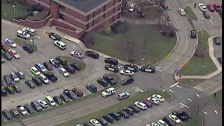 AirTracker 5 flying above potential active shooter situation at a Medina Hospital