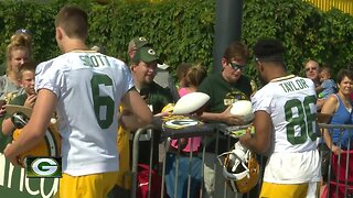 Excited fans gather as Packers kick off training camp