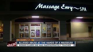 Woman says massage therapist inappropriately touched her at Massage Envy - Video