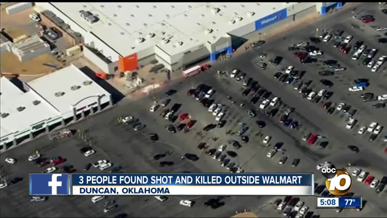 3 people found shot outside Walmart