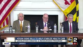 Governor Larry Hogan signs bills to help stabilize health care - Video