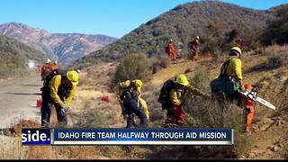 Local firefighters halfway done with aid mission - Video