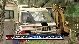 Seffner homeowner will face 30 days in jail if he does not comply with code violations - Video