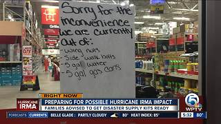 Royal Palm Beach Home Depot short of some supplies as residents prepare for Irma - Video