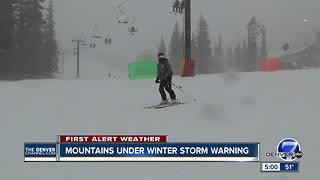 Mountains under Winter Storm Warning - Video