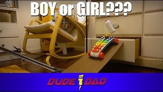 Dad Shows Off Creative Gender Reveal With Rube Goldberg Machine - Video
