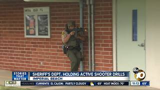 Deputies hold active shooter drills