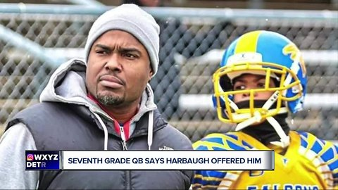 Southfield seventh-grade QB Isaiah Marshall says Jim Harbaugh offered him scholarship