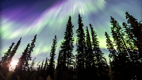 Magical color explosion: Alaskan Aurora Corona
