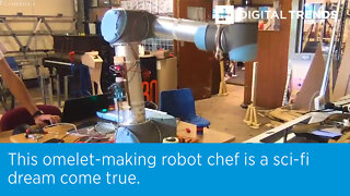 This omelet-making robot chef is a sci-fi dream come true.