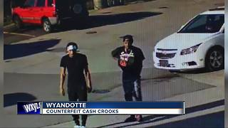 Wyandotte Police searching for counterfeit cash suspects
