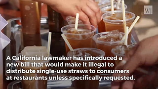 New California Bill: Waiters Will Serve 6 Months In Prison For Handing Out 'Unsolicited' Straws - Video