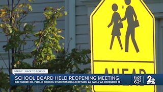School Board holds reopening meeting in Baltimore County