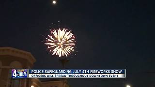 Police safeguarding July 4th fireworks show - Video