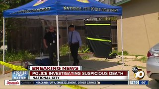 Man found dead outside National City home