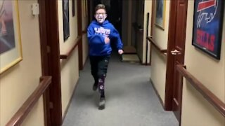 Lewiston boy runs again, after losing his leg in an accident