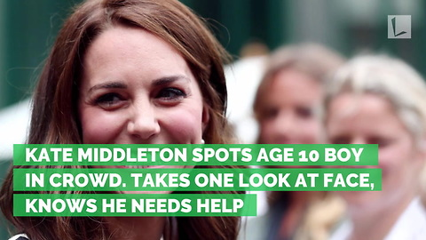Kate Middleton Spots Age 10 Boy in Crowd. Takes One Look at Face, Knows He Needs Help