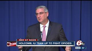 Holcomb, Indiana University plan $50M opioid recovery effort - Video