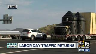 Labor Day filled with traffic for those traveling - Video