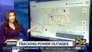 Power out for Valley residents after monsoon storm - Video