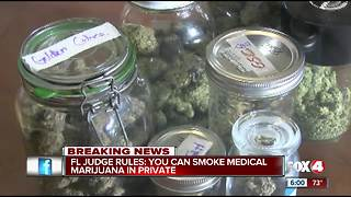 Floridians can now legally smoke medical marijuana, judge rules - Video