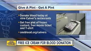Free ice cream & movie ticket for blood donation - Video