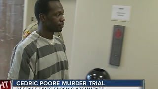 District attorney presenting closing arguments for Cedric Poore - Video