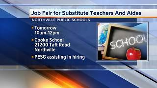 Northville School District is hiring Substitute Teachers and Substitute Aides - Video