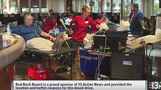 Blood Rocks drive at Red Rock hotel-casino a success - Video