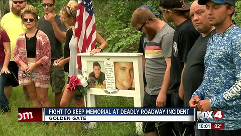 Collier County asks family to move memorial of deceased loved one