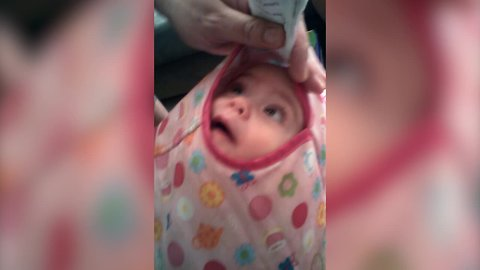 Baby has Creative way of Getting into Jumper