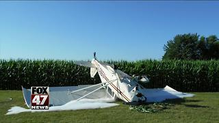 79-year-old pilot escapes serious injury in Michigan crash - Video