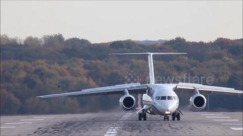 Archive footage of an Antonov AN-148 - the model which crashed today
