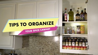 Tips to organize your spice cabinet - Video