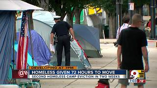 City moves to clear out another homeless camp - Video