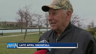 'I thought it was summer': Locals upset about April snow