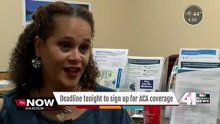 Open enrollment for ACA ends at midnight - Video