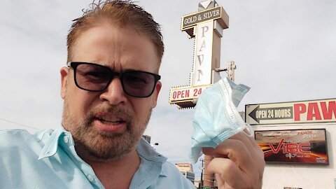 Selling my mask to Pawn Stars in Las Vegas