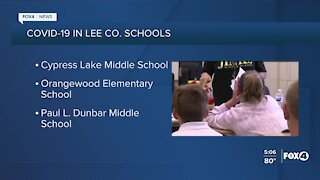 COVID-19 cases in Lee Co. Schools as of September 24th