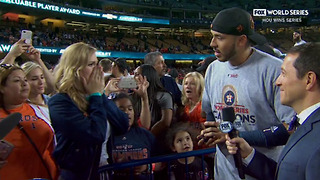Shortstop Carlos Correa Proposes To His Girlfriend On Live TV After Winning The World Series - Video