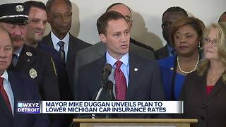 Detroit mayor unveils plan to lower Michigan auto insurance rates up to 20% - Video