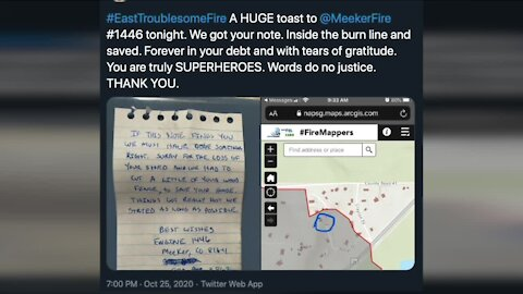 Coloradans find note from firefighters who protected home from East Troublesome Fire
