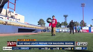 Las Vegas Lights prepare for soccer debut with Cashman Field transition - Video
