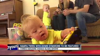 Nampa twins with Down Syndrome to be featured in Times Square video - Video