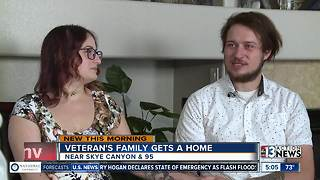 Veteran and his family get a free home - Video