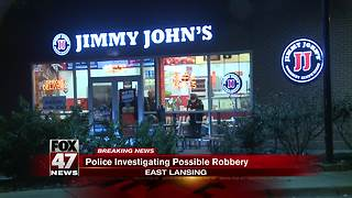 Police investigating armed robbery at Jimmy John's restaurant - Video