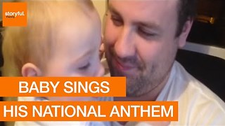 22-Month-Old Baby Hums Irish National Anthem - Video