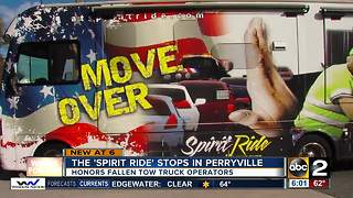 'Spirit Ride' campaigns for tow truck drivers killed on highways - Video
