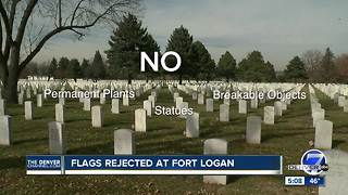 Fort Logan National Cemetery tells group to remove flags honoring fallen soldiers - Video