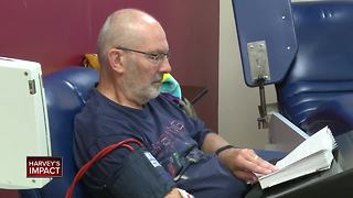 Looking for ways to help Harvey victims? Try donating blood - Video